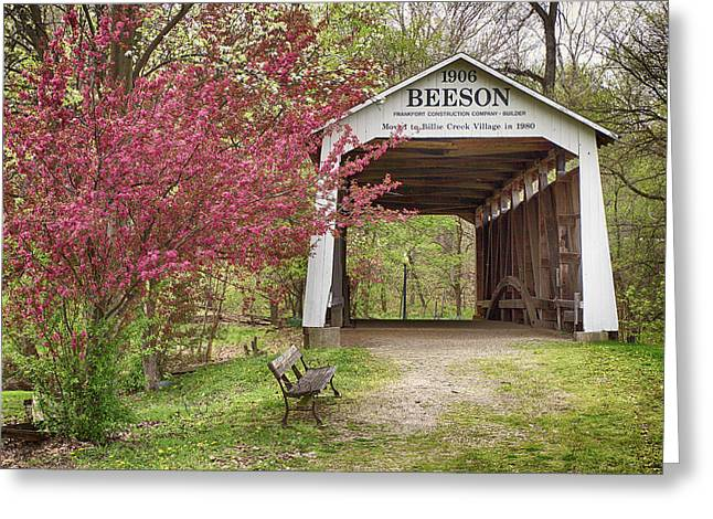Beeson Covered Bridge Greeting Card