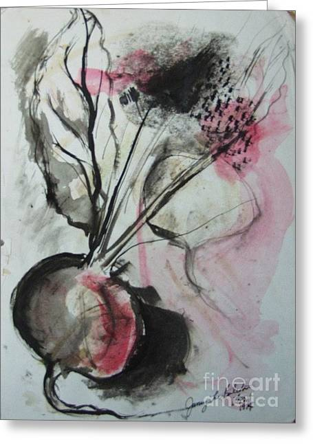 Beet Greeting Card by Jamey Balester