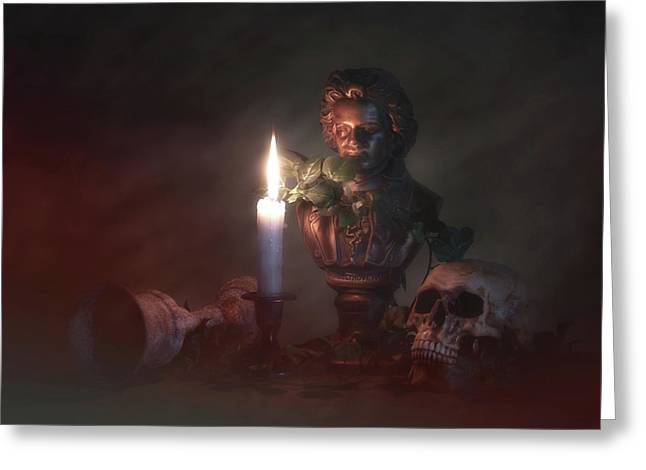Beethoven By Candlelight Greeting Card by Tom Mc Nemar