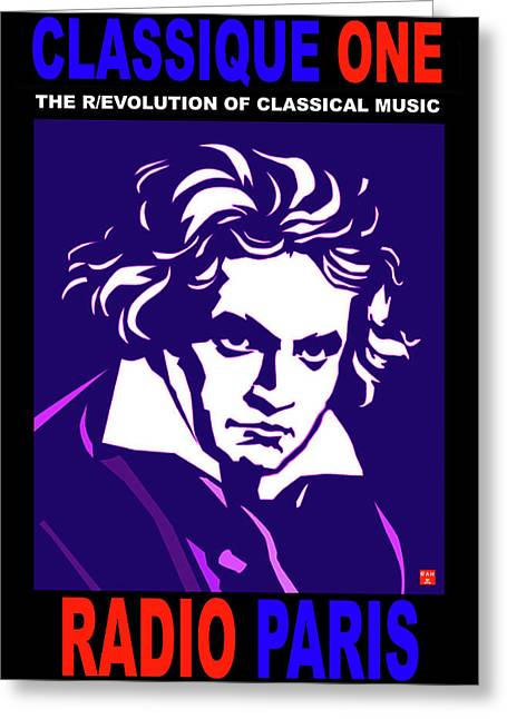 Beethoven Classique One Radio Paris  Greeting Card