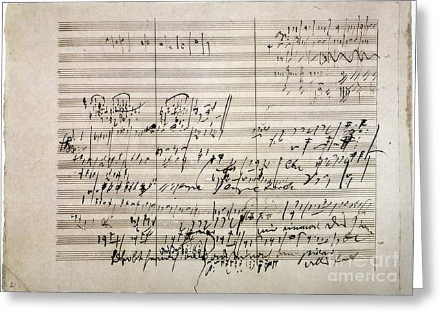 Beethoven Manuscript Greeting Card by Granger