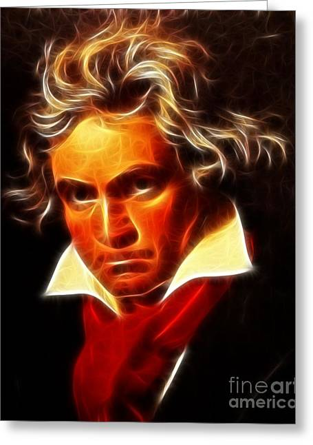 Beethoven Greeting Card by Pamela Johnson