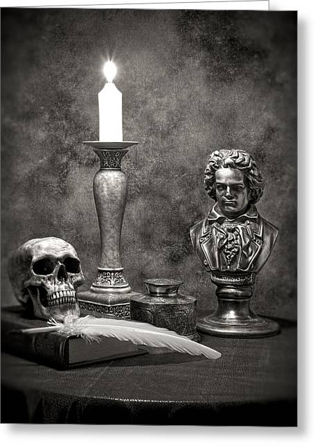 Beethoven Still Life Greeting Card by Tom Mc Nemar