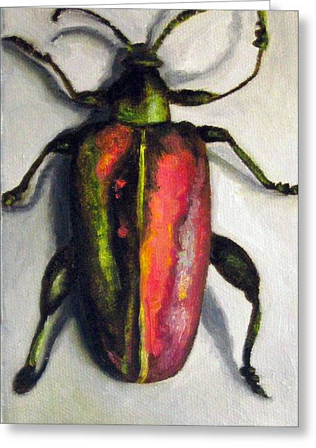 Beetle Greeting Card by Leah Saulnier The Painting Maniac