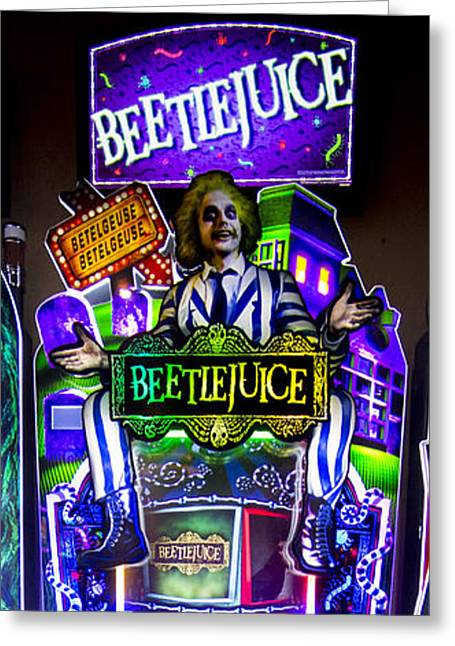 Beetlejuice Slot Machine Lumiere Place Casino Greeting Card by David Oppenheimer