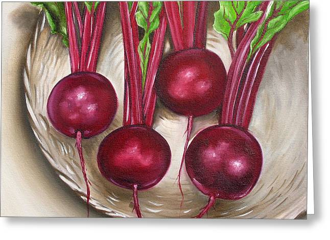 Beetroot Greeting Card by Ilse Kleyn