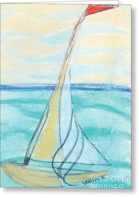 Breezy Day Sailing Greeting Card