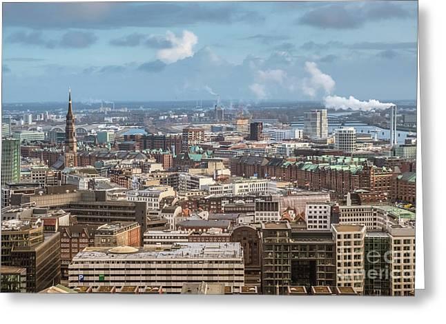 Befor A Snow Storm Hamburg Greeting Card