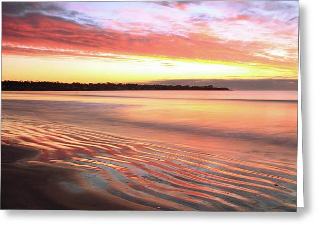 Before Sunrise At First Beach Greeting Card