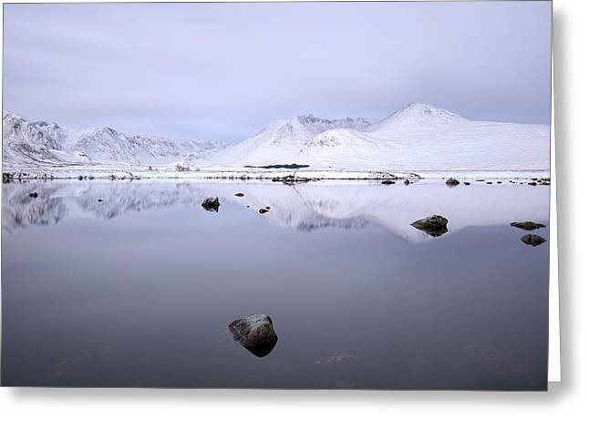 Greeting Card featuring the photograph Before Sunrise, Glencoe by Grant Glendinning