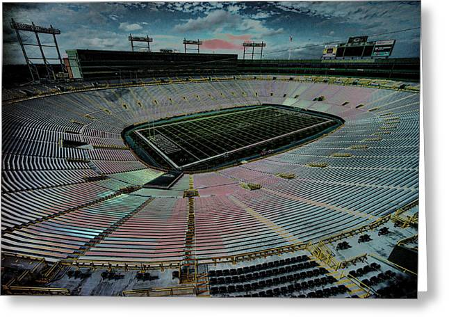 Lambeau Greeting Cards - Before The Game At Lambeau Greeting Card by Lawrence Christopher