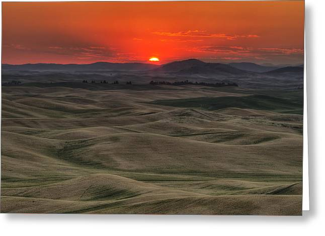 Before The Glory Greeting Card by Mark Kiver