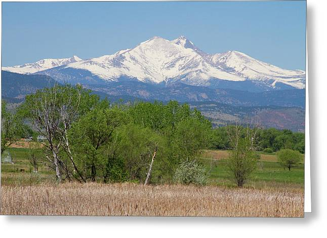 Before The Melt Off  Of The Rocky Mountains Greeting Card by James BO  Insogna