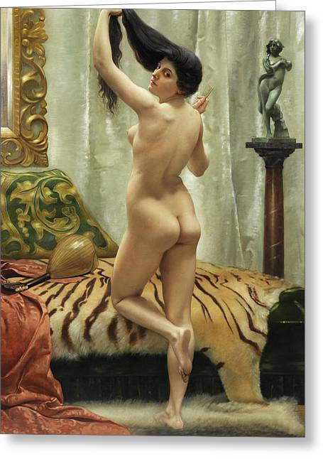 Before The Mirror Greeting Card by Robert Barrett Browning