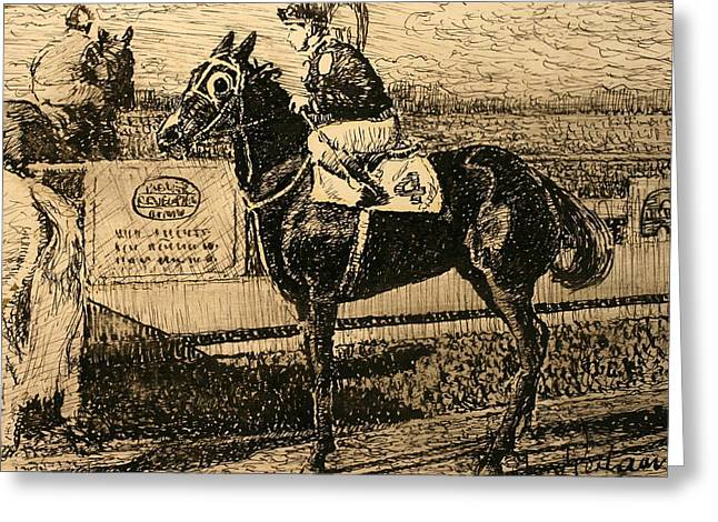 Before The Race Greeting Card by Terry Perham