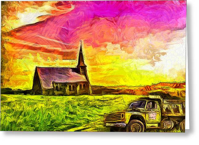 Before The Resurrection Greeting Card by Anthony Caruso