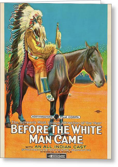 Before The White Man Came 1918 Greeting Card