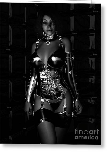 Beg For Mercy Bw Greeting Card by Alexander Butler