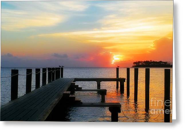 Beginning Of A Beautiful Day Greeting Card by Benanne Stiens