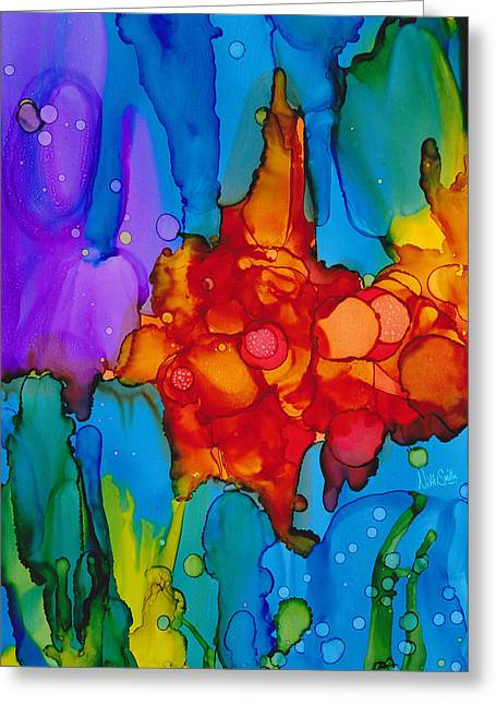 Greeting Card featuring the painting Beginnings Abstract by Nikki Marie Smith
