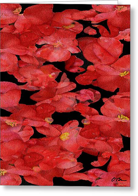 Begonia Discussions Greeting Card by Claudia O'Brien