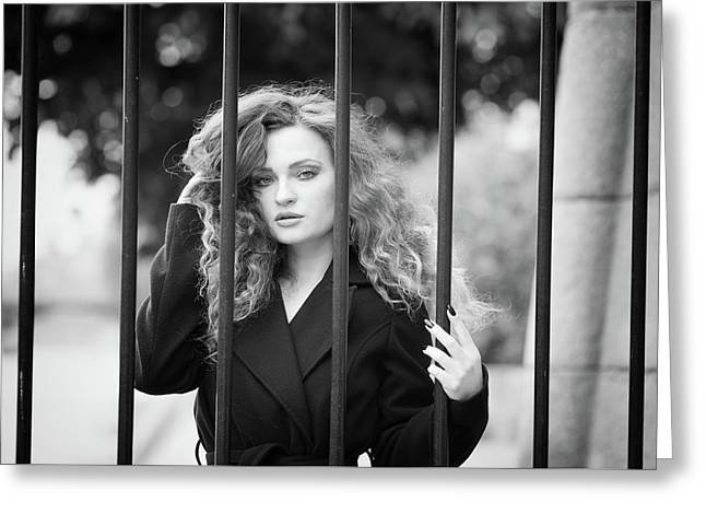 Behind Bars, Paris Greeting Card