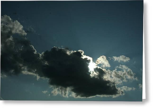 Behind Every Dark Cloud Greeting Card by Gregory Jeffries