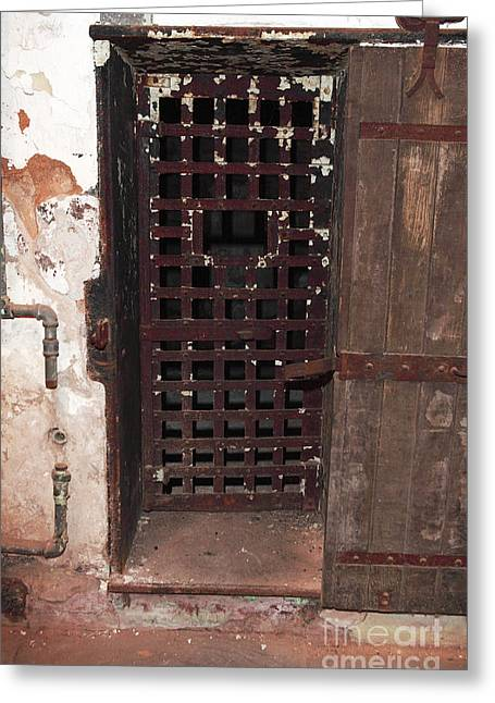 Behind Locked Doors Greeting Card by John Rizzuto