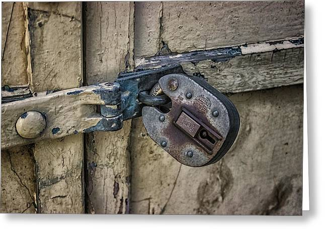 Behind Locked Doors Greeting Card by Martin Newman