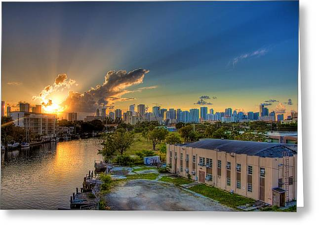 Behind Miami Greeting Card