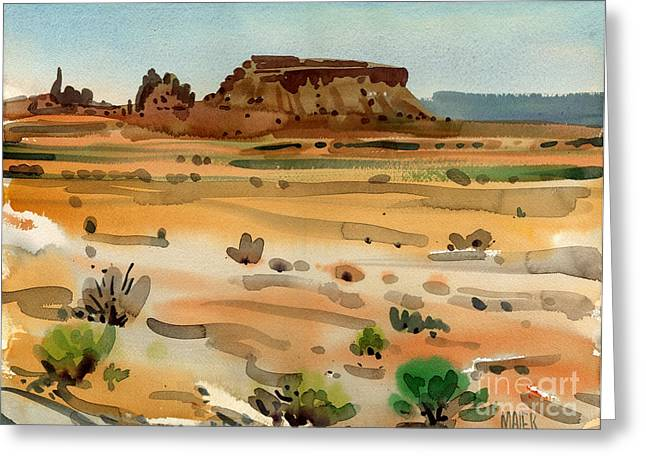 Behind Shiprock Greeting Card by Donald Maier