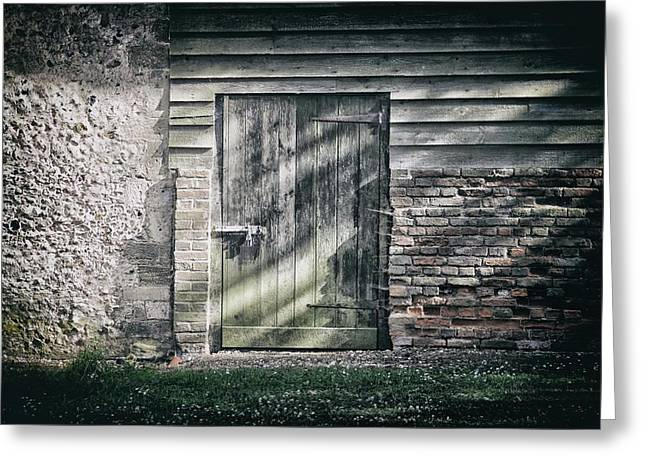 Behind The Door Greeting Card by Martin Newman