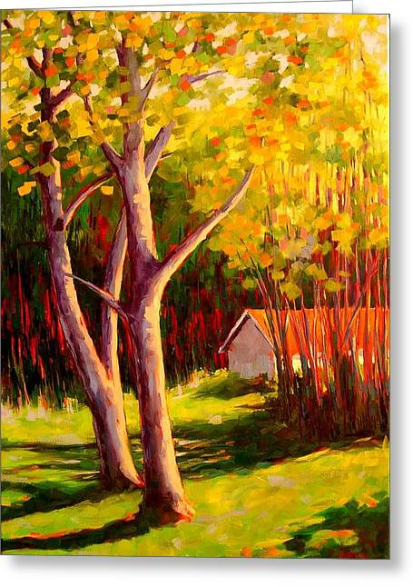 Behind The House Greeting Card by Mary McInnis
