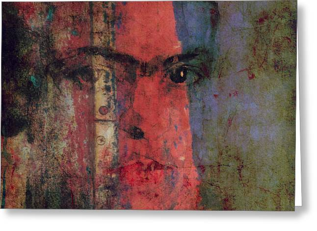 Behind The Painted Smile Greeting Card by Paul Lovering