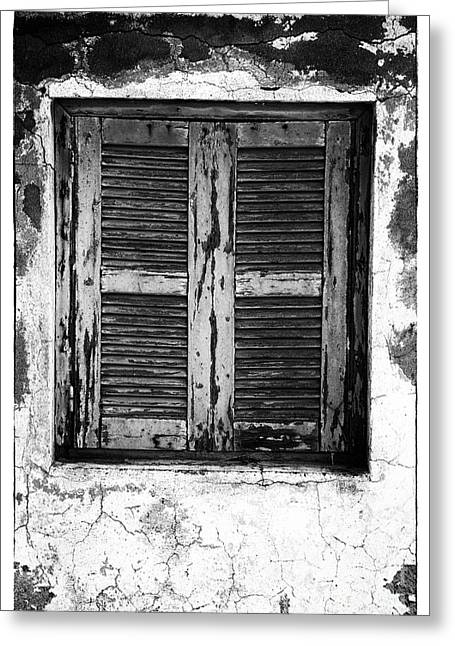 Behind The Shutter Greeting Card by John Rizzuto