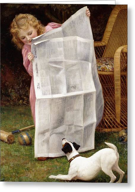 Behind The Times Greeting Card by William Henry Gore