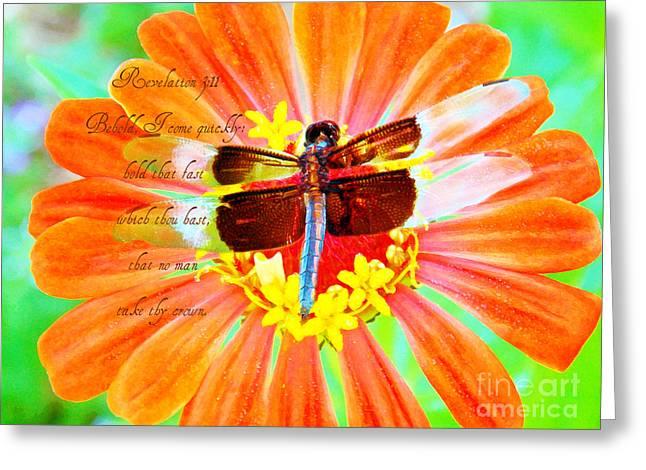 Behold - Verse Greeting Card by Anita Faye