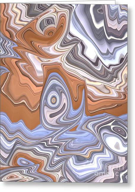Beige And Blue Greeting Card by John Edwards