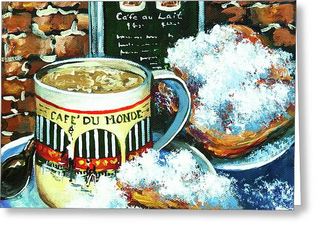 Beignets And Cafe Au Lait Greeting Card