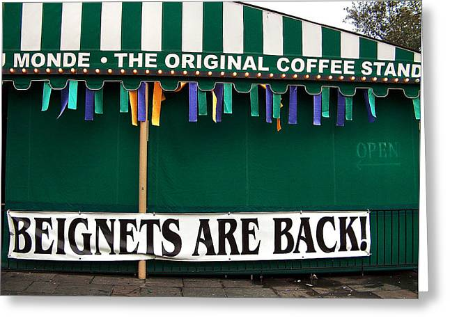 Beignets Nola Greeting Card by Ally Burguieres