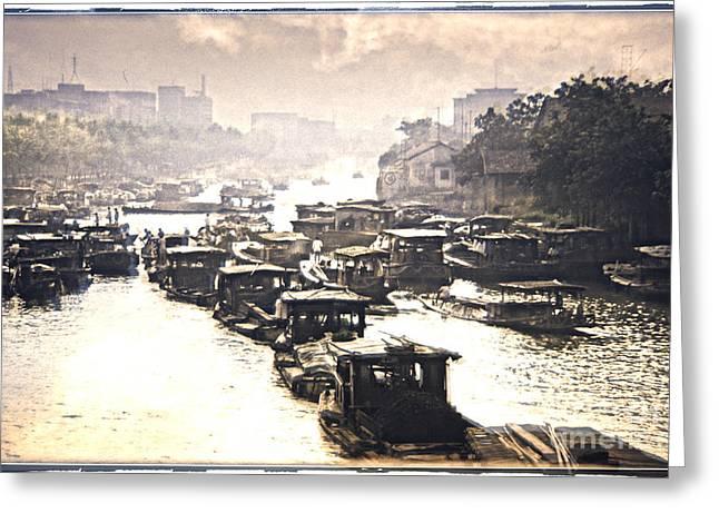 Beijing-hangzhou Grand Canal  Greeting Card by Heiko Koehrer-Wagner