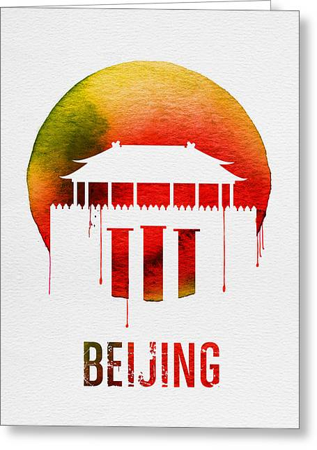 Beijing Landmark Red Greeting Card