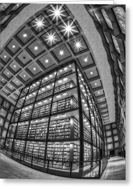 Beinecke Rare Book And Manuscript Library II Bw Greeting Card