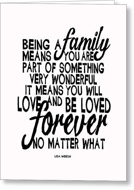 Being A Family Greeting Card