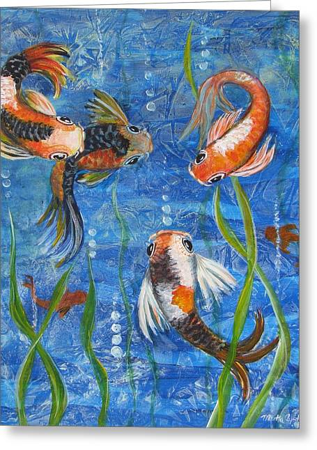 Being Koi Greeting Card