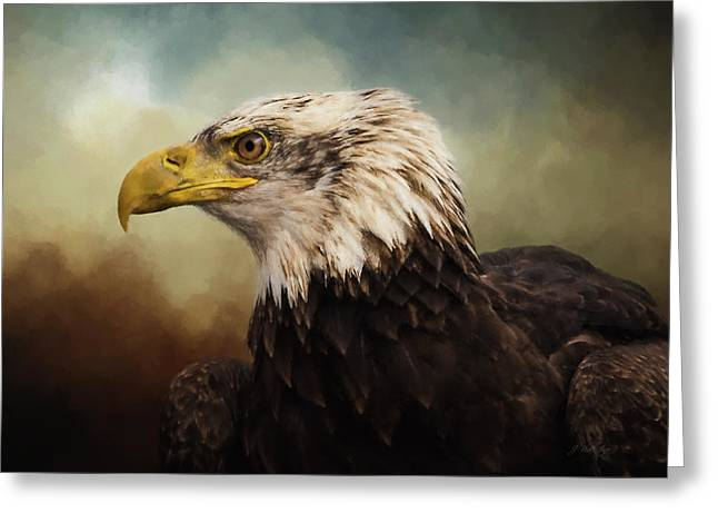 Greeting Card featuring the photograph Being Patient - Eagle Art by Jordan Blackstone