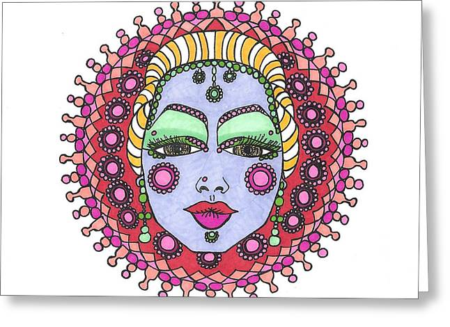 Bejeweled Blond Greeting Card