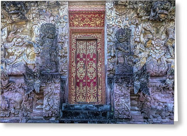 Beji Temple - Bali Greeting Card by Joana Kruse