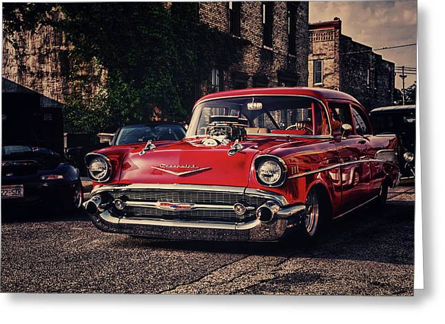 Greeting Card featuring the photograph Bel Air Hotrod by Joel Witmeyer