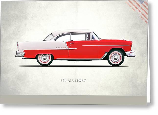 Bel Air Sport 1955 Greeting Card by Mark Rogan